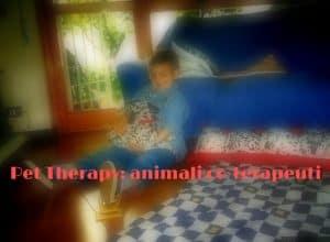 Una seduta domiciliare di pet therapy Interventi Assistiti da Animali